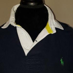 Polo by Ralph Lauren Shirts - Ralph lauren navy white collared long sleeve